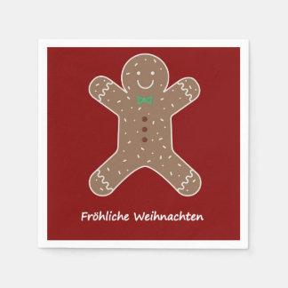 Guardanapo De Papel Lebkuchenmann Fröhliche Weihnachten