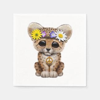 Guardanapo De Papel Leopardo bonito Cub do Hippie