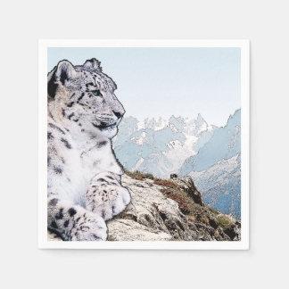 Guardanapo De Papel Leopardo de neve