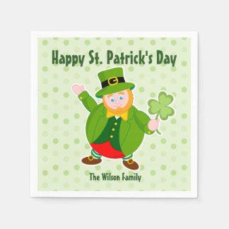 Guardanapo De Papel Leprechaun do dia de um St Patrick que guardara um