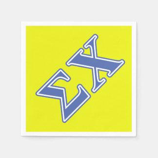 Guardanapo De Papel Letras do azul do qui do Sigma