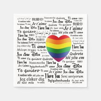 Guardanapo De Papel LGBT eu te amo