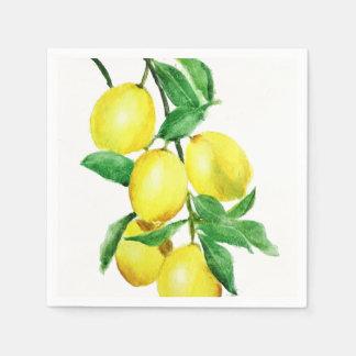Guardanapo De Papel limão amarelo brilhante