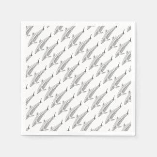 Guardanapo De Papel Linha design do golfinho dois da arte