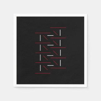 Guardanapo De Papel Linha vermelha, preta & branca excepcionalmente
