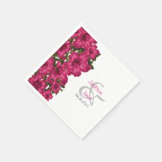 Guardanapo De Papel Lírios bonitos do rosa quente