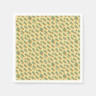 Guardanapo De Papel listras amarelas dos pinepples
