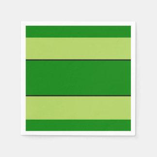 Guardanapo De Papel Listras claras e verdes escuro