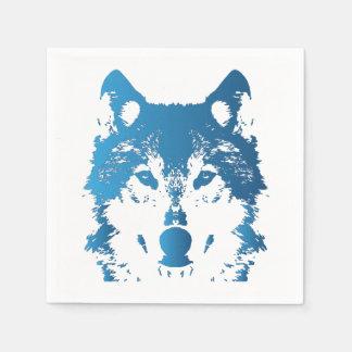 Guardanapo De Papel Lobo do azul de gelo da ilustração