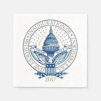 Guardanapo De Papel Logotipo 2017 presidencial das moedas de um