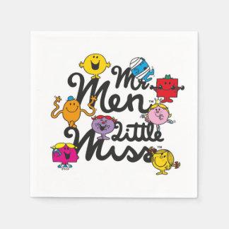 Guardanapo De Papel Logotipo do grupo do Sr. Homem Pequeno senhorita |