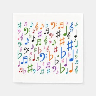 Guardanapo De Papel Lotes de notas musicais e de símbolos