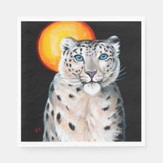Guardanapo De Papel Lua do leopardo de neve