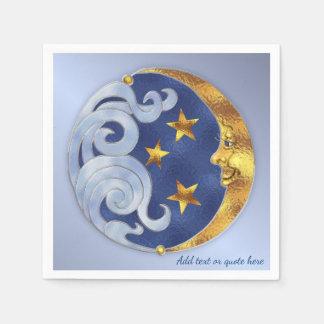 Guardanapo De Papel Lua e estrelas celestiais