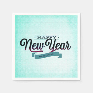 Guardanapo De Papel Luz - o feliz ano novo azul todos