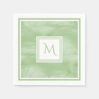 Guardanapo De Papel Luz simples - monograma moderno de mármore subtil