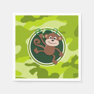 Guardanapo De Papel Macaco; camo verde-claro, camuflagem