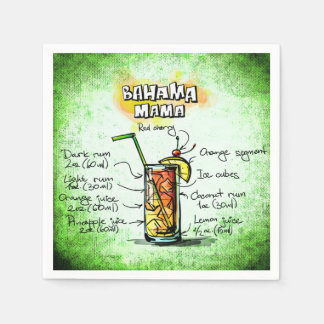 Guardanapo De Papel Mama Barman Beber Receita de Bahama