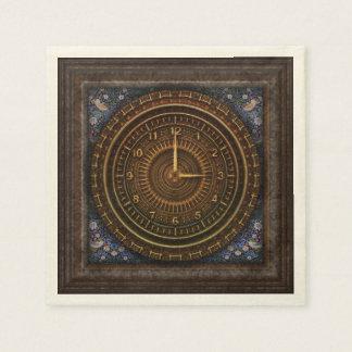 Guardanapo De Papel Maquinismo de relojoaria de cobre antiquado do