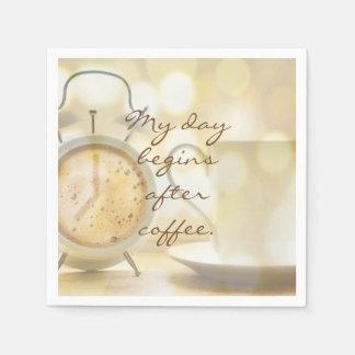Guardanapo De Papel Meu dia começa após o café