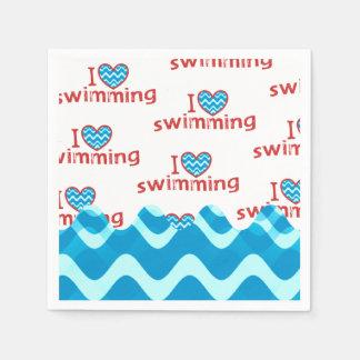 Guardanapo De Papel Mim natação do coração para nadadores