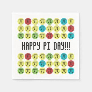 Guardanapo De Papel Modificação Pi - Partido feliz do dia do Pi