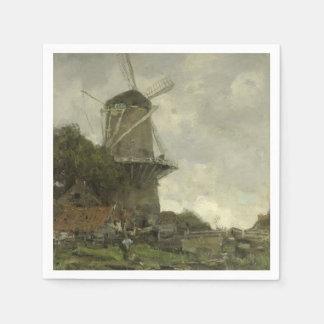 Guardanapo De Papel Moinho de vento holandês, Jacob Maris
