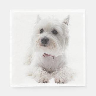 Guardanapo De Papel Montanhas ocidentais brancas adoráveis Terrier