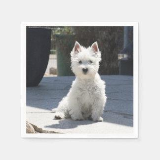 Guardanapo De Papel Montanhas ocidentais brancas Terrier que senta-se