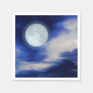 Guardanapo De Papel Moonscape com nuvens enluaradas