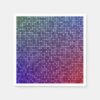 Guardanapo De Papel Mosaico do pixel da febre do disco