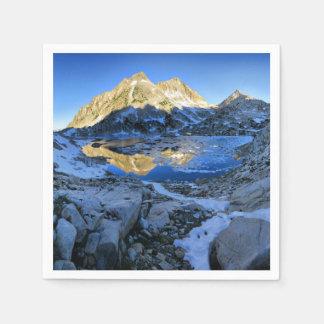 Guardanapo De Papel Mt Izaak Walton sobre o nascer do sol do lago
