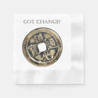 Guardanapo De Papel Mudança obtida? Moeda chinesa antiga