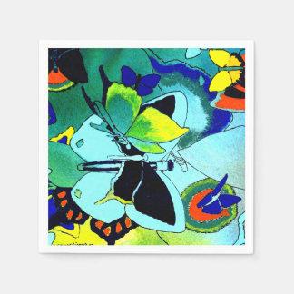 Guardanapo De Papel Multi-Cor extravagante bonito da colagem da
