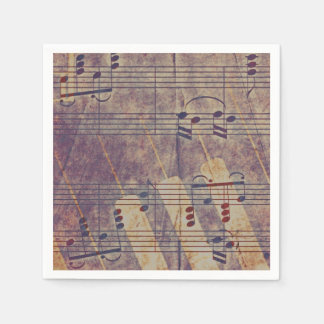 Guardanapo De Papel Música, olhar B do vintage