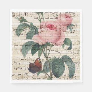 Guardanapo De Papel musicc dos rosas