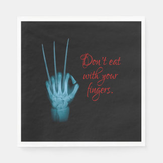 Guardanapo De Papel Não coma com seus dedos