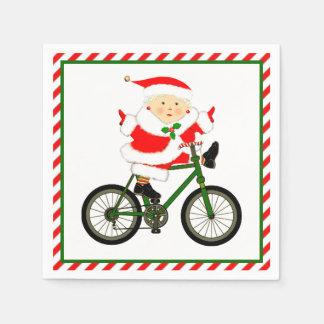 Guardanapo De Papel Natal do ciclismo