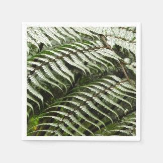 Guardanapo De Papel Natureza verde escuro das frondas II da samambaia