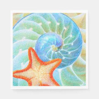 Guardanapo De Papel Nautilus e estrela do mar