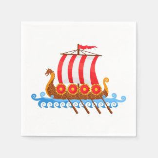 Guardanapo De Papel Navio de Viking dos desenhos animados