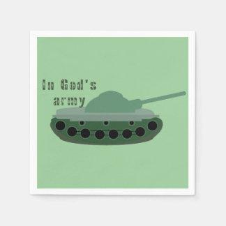 Guardanapo De Papel no exército do deus (tanque)