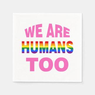 Guardanapo De Papel Nós somos seres humanos demasiado