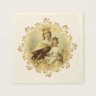 Guardanapo De Papel Nossa senhora do bebê Jesus de Monte Carmelo
