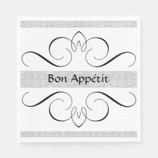 """Guardanapo De Papel Nupcial-Cetim """"Bon Appétit """""""