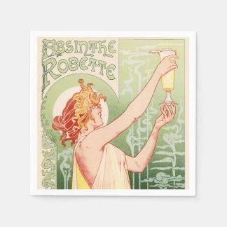 Guardanapo De Papel O absinto Robette - poster vintage do álcool