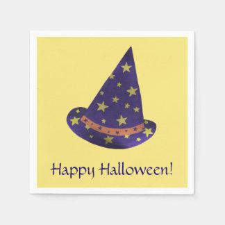Guardanapo De Papel O amarelo roxo do chapéu do feiticeiro Stars