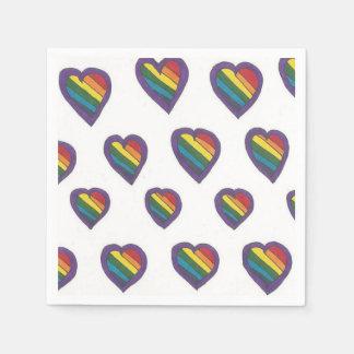 Guardanapo De Papel O amor é teste padrão do coração do amor