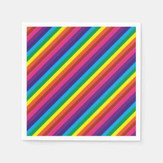 Guardanapo De Papel O arco-íris colorido listra fontes do partido do