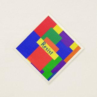 Guardanapo De Papel O arco-íris do design dos retalhos resiste os
